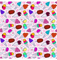 ice cream pattern 7 big vector image vector image