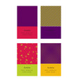 invitation colorful cards or tickets set vector image