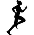 isoleted black silhouette fitness vector image vector image