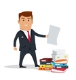 Man Character With Paper vector image vector image