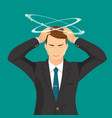 man in suit and tie with strong headache vector image
