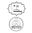 mexico cuba vector image vector image