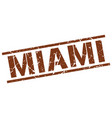 miami brown square stamp vector image vector image
