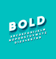 modern bold font design alphabet letters and vector image vector image