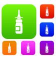 nasal drops set color collection vector image vector image