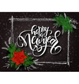 new year lettering with a rectangle frame vector image