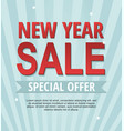 new year sale banner on blue background vector image vector image
