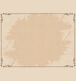 old dirty brown background vector image