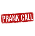 prank call sign or stamp vector image vector image