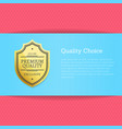 quality choice golden label vector image vector image