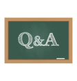 Questions and answers text on chalkboard vector image vector image