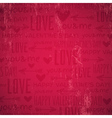 red background with valentine heart vector image vector image