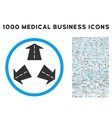 Road Directions Icon with 1000 Medical Business vector image