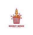 rocket movie logo vector image vector image