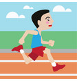 running athletic sport cartoon set vector image vector image