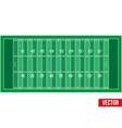 Sample football field in a simple outline vector image vector image