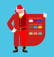 santa claus sells drugs cocaine and marijuana vector image vector image