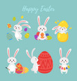 set of easter bunny vector image