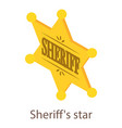 sheriff star icon isometric 3d style vector image vector image