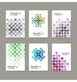 Six pattern with abstract figures brochures vector image vector image