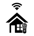 Smart house icon design vector image