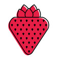 strawberry fruit fresh tasty delicious icon vector image vector image