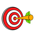 target with arrow icon cartoon vector image vector image
