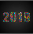 the 2019 new year christmas bubbles dots shape vector image vector image