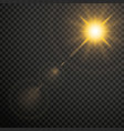 transparent lens flares glow light effect star vector image
