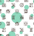 Transportation seamless pattern vector image
