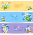 Weather background banners set vector image