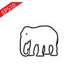 web line icon elephant wild animals vector image vector image