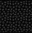 white chalk drawing insects seamless pattern vector image