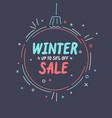 winter sale banner original poster for discount vector image