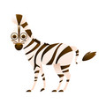 zebra cute cartoon character vector image vector image