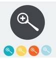 zoom in icon set of icons with magnifires vector image
