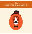 Abstract on lion head hipster style vector image