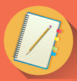 flat icon of notebook vector image