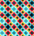 grunge colored mosaic seamless pattern vector image