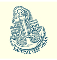 Anchor Sailor Tee Design vector image