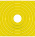 abstract yellow circles with shadow background vector image