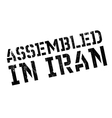 Assembled in Iran rubber stamp vector image vector image