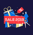 big sale 2019 - flat design style colorful vector image vector image