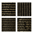 Black and Gold Seamless Pattern vector image vector image
