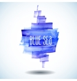 blue sea abstract watercolor background vector image