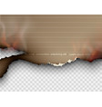 burning templates torn paper with fire vector image vector image