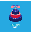 Cake with two star and strip flags Patriot day vector image vector image