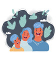cartoon laughing family vector image