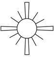 christian sun icon vector image