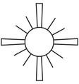 christian sun icon vector image vector image